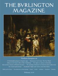 Burlington Magazine February issue cover